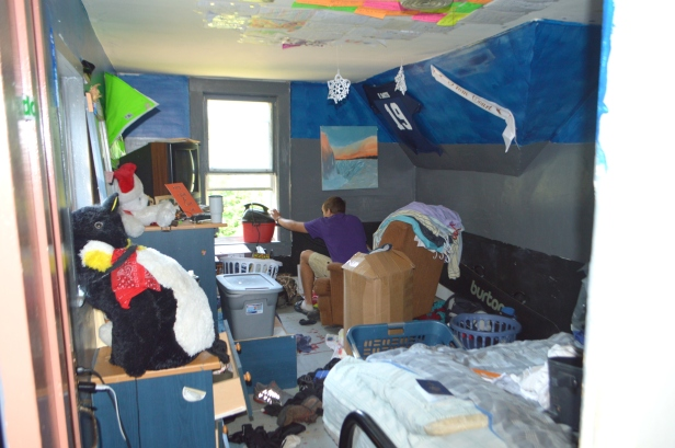 Ryan's room before packing for Syracuse