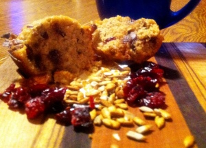 Paleo trail mix muffins