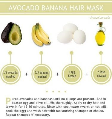 avocado banana hair mask