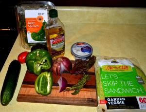 vegetarian spinach wrap 1